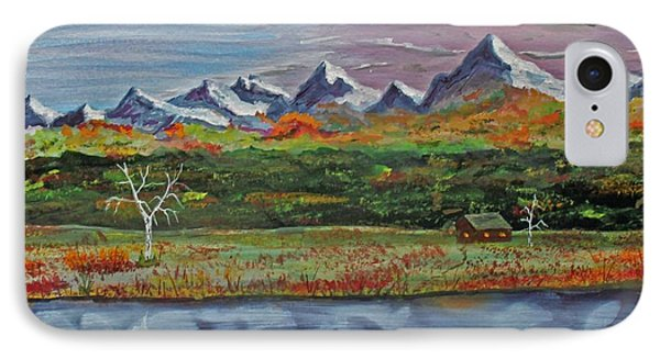 IPhone Case featuring the painting Autumn Splendor  140403 by Jack G  Brauer