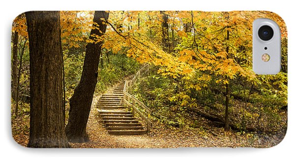 Autumn Stairs IPhone Case by Scott Norris