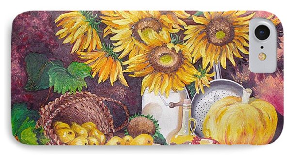 IPhone Case featuring the painting Autumn Still Life by Nina Mitkova