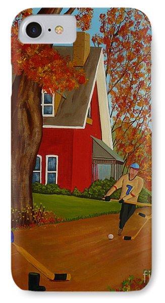 Autumn Street Hockey IPhone Case by Anthony Dunphy