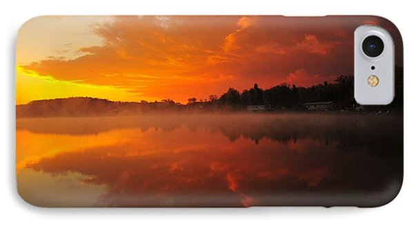 Autumn Sunrise At Stoneledge Lake IPhone Case by Terri Gostola