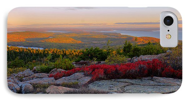 Cadillac Mountain Autumn Sunrise IPhone Case by Stephen  Vecchiotti