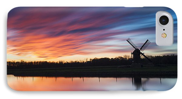 Autumn Sunset At Knip Molen IPhone Case