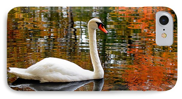 Autumn Swan IPhone Case by Lourry Legarde