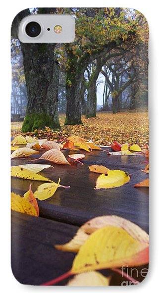 IPhone Case featuring the photograph Autumn Table by Maria Janicki
