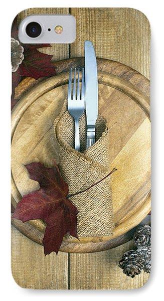 Autumn Table Setting Phone Case by Amanda Elwell