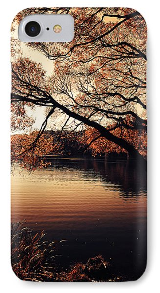Autumn Time At The Lake IPhone Case by Jenny Rainbow