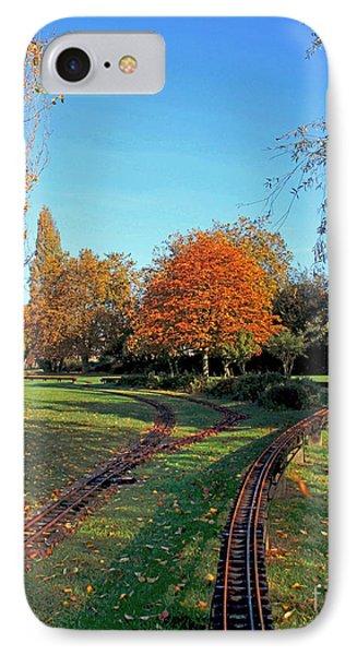 Autumn Tracks Phone Case by Terri Waters
