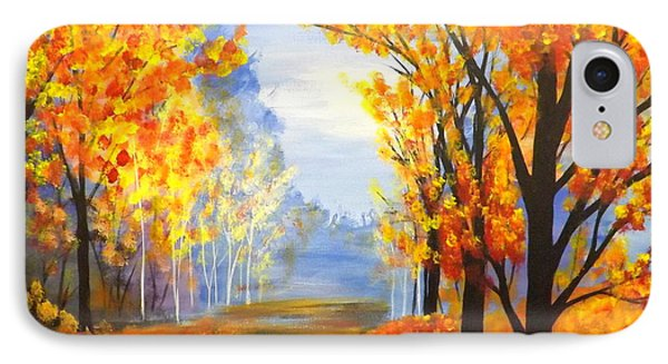 IPhone Case featuring the painting Autumn Trail by Darren Robinson