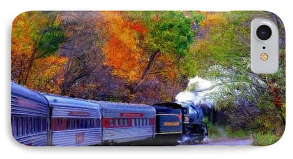 IPhone Case featuring the painting Autumn Train by Bruce Nutting