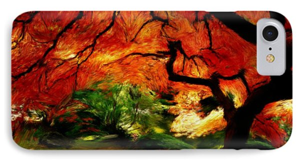 IPhone Case featuring the painting Autumn Tree by Bruce Nutting