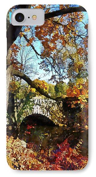 Autumn Tree By Small Stone Bridge Phone Case by Susan Savad