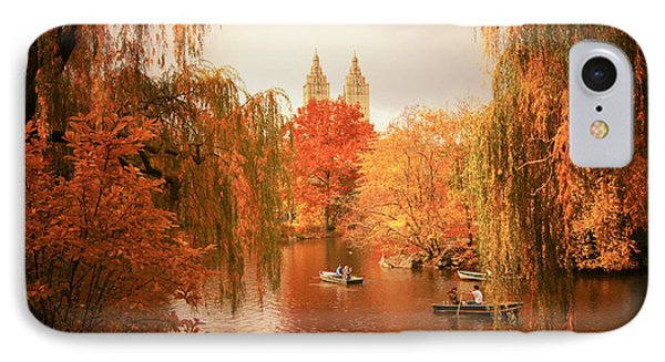 Autumn Trees - Central Park - New York City IPhone Case