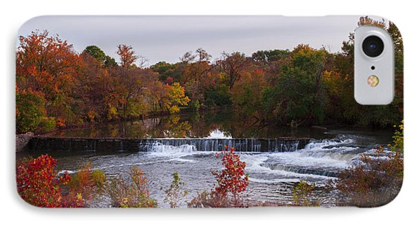 IPhone Case featuring the photograph Refreshing Waterfalls Autumn Trees On The Stones River Tennessee by Jerry Cowart