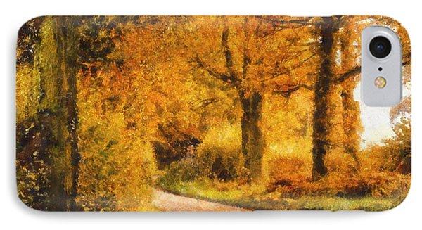 Autumn Trees Phone Case by Pixel Chimp