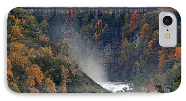 Autumn Trestle IPhone Case by Timothy McIntyre