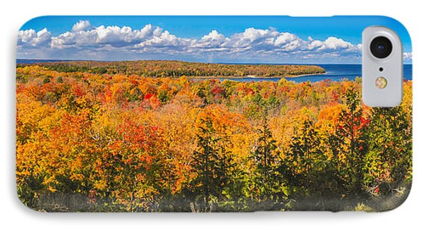 IPhone Case featuring the photograph Autumn Vistas Of Nicolet Bay by Mark David Zahn