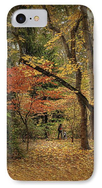 Autumn Walk Phone Case by Diane Schuster