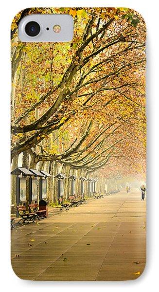 Autumn Walk Xian China IPhone Case by Sally Ross