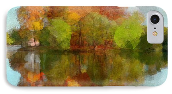 Autumn Water Reflection IPhone Case by Yury Malkov