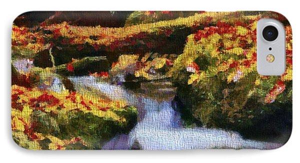 Autumn Waterfall Canvas IPhone Case