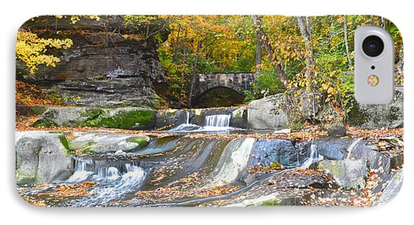 Autumn Waterfall Phone Case by Frozen in Time Fine Art Photography