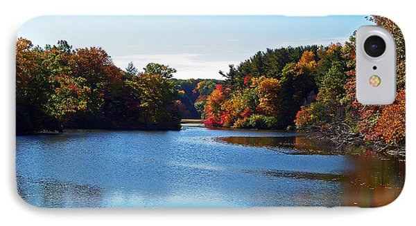 Autumn Waterway Phone Case by Aimee L Maher Photography and Art Visit ALMGallerydotcom
