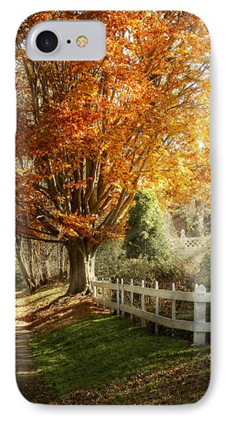 Autumn - Westfield Nj - I Love Autumn Phone Case by Mike Savad