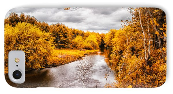 Autumn White Mountains Maine Phone Case by Bob Orsillo