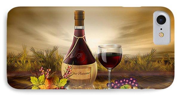 Autumn Wine IPhone Case by Bedros Awak