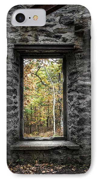 Autumn Within Cunningham Tower - Historical Ruins Phone Case by Gary Heller