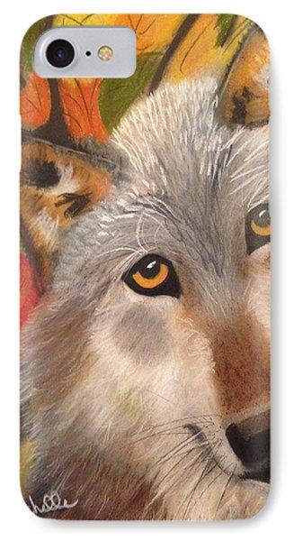 Autumn Wolf IPhone Case by Renee Michelle Wenker