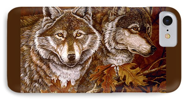 Autumn Wolves Phone Case by Sandy Williams