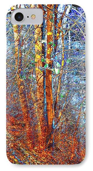 Autumn Woods Phone Case by Ann Powell