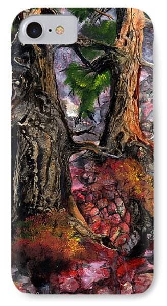 IPhone Case featuring the painting Autumn Woods by Sherry Shipley