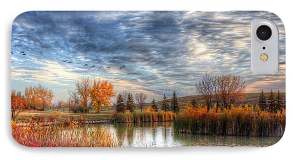 IPhone Case featuring the photograph Autumnal Morn by Larry Trupp