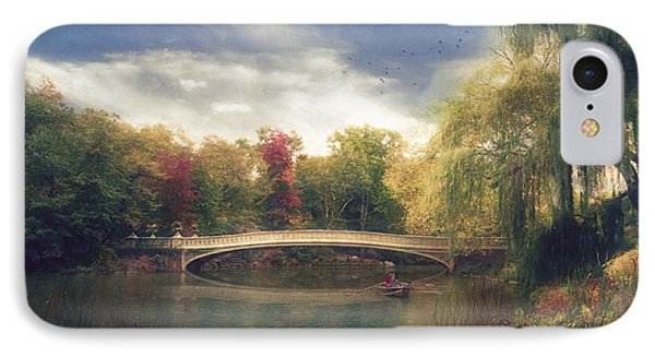 Autumn's Afternoon In Central Park IPhone Case by John Rivera