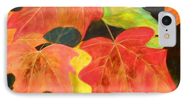 IPhone Case featuring the painting Autumn's Glow  by Nancy Czejkowski