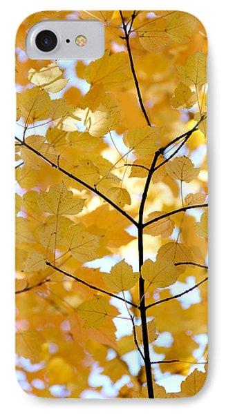 Autumn's Golden Leaves Phone Case by Jennie Marie Schell