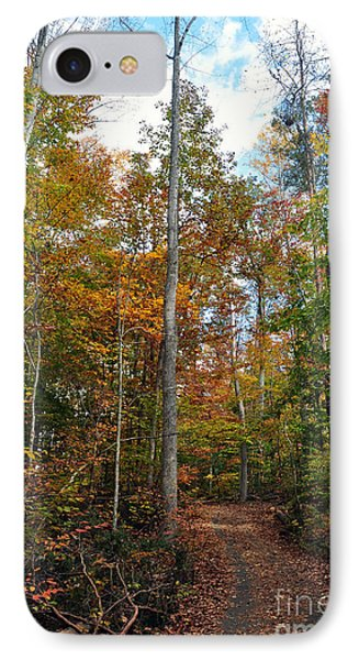 Autumn's Path IPhone Case by Gina Savage