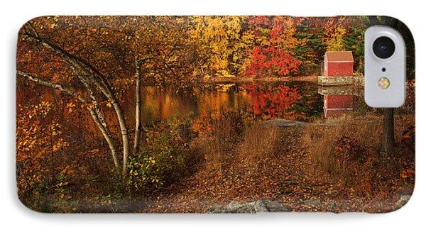 Autumns Path Phone Case by Karol Livote