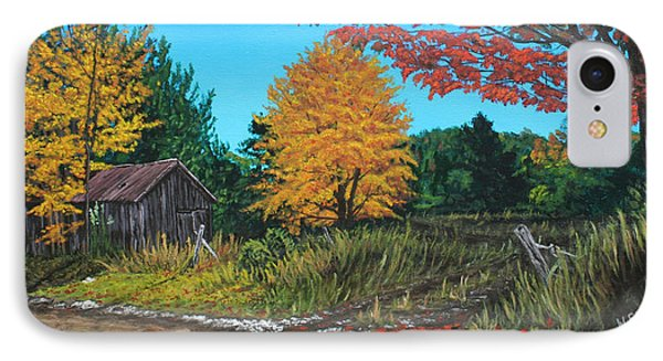 Autumns Rustic Path IPhone Case by Wendy Shoults
