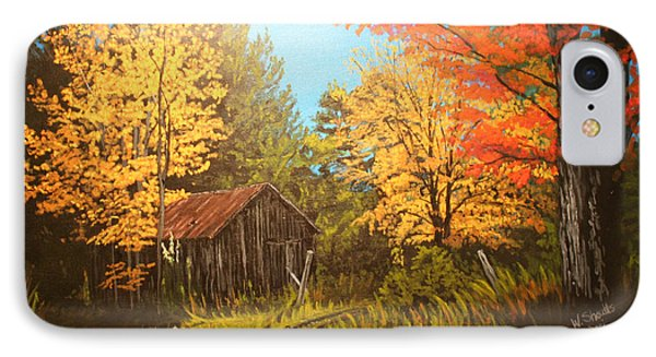 Autumns Rustic Road IPhone Case by Wendy Shoults