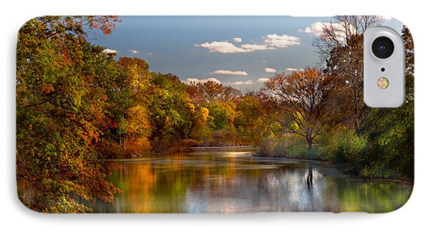 Autumn - Hillsborough Nj - Painted By Nature IPhone Case by Mike Savad