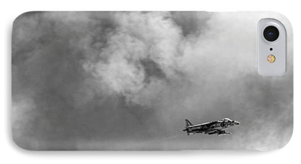 Av-8b Harrier Flies Through The Smoke Of War Phone Case by Peter Tellone