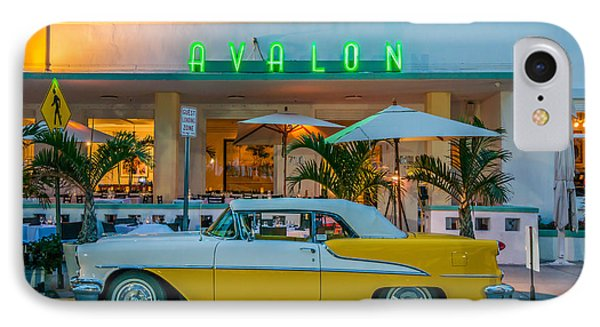 Avalon Hotel And Oldsmobile 88 - South Beach - Miami IPhone Case by Ian Monk