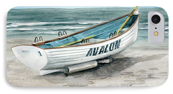 Avalon Lifeguard Boat  IPhone Case by Nancy Patterson
