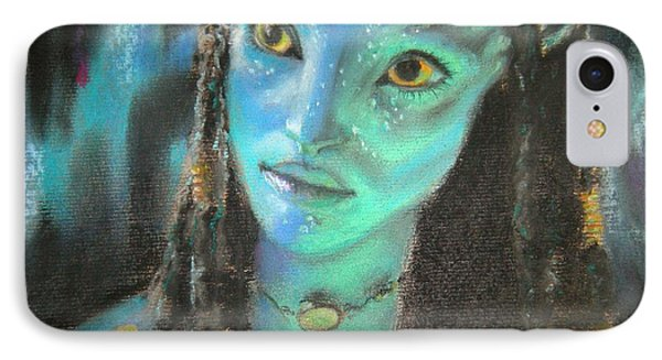 IPhone Case featuring the pastel Avatar by Lori Ippolito