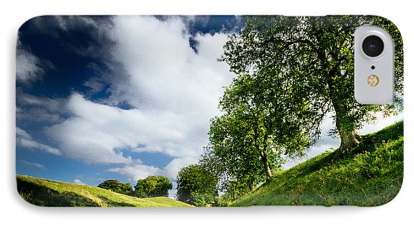 Avebury Hillside IPhone Case by Julian Cook