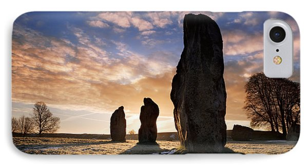 Avebury Stone Circle 1 IPhone Case by Rod McLean